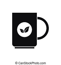 Cup of tea icon in simple style isolated vector illustration