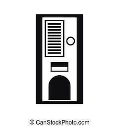 Coffee vending machine icon, simple style - Coffee vending...