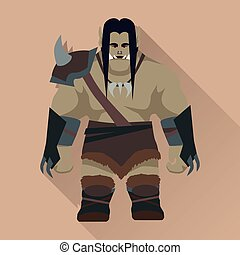 Game Object of Orc - Game object of orc Orc warrior with...