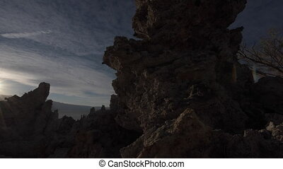 Tufa Towers at Mono Lake Dolly Shot - Mono lake Tufa Towers...