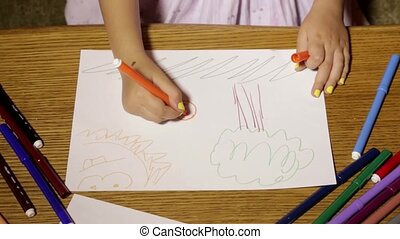 Children's hand painted on paper HD