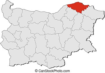 Map - Bulgaria, Silistra - Map of Bulgaria with the...