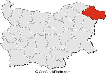 Map - Bulgaria, Dobrich - Map of Bulgaria with the...