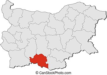 Map - Bulgaria, Smolyan - Map of Bulgaria with the...