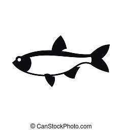 Rudd fish icon, simple style - Rudd fish icon in simple...