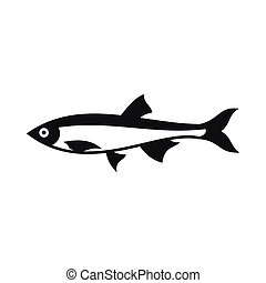 Herring fish icon, simple style - Herring fish icon in...