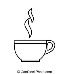 Glass cup of tea icon, outline style - Glass cup of tea icon...