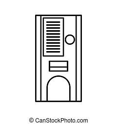 Coffee vending machine icon, outline style - Coffee vending...