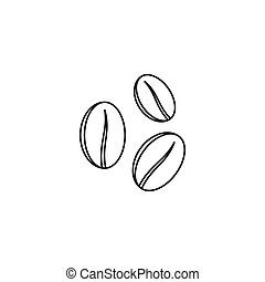 Coffee beans icon, outline style - Coffee beans icon in...