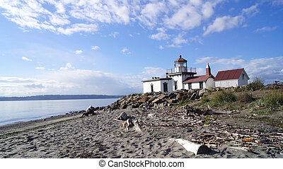 SEATTLE, WASHINGOTN - SEPTEMBER 2014: West Point Lighthouse....