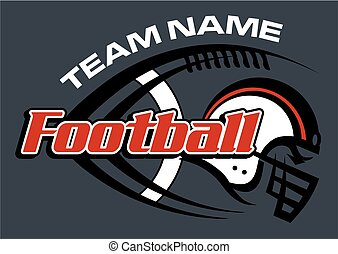 football team design with laces and helmet for school,...