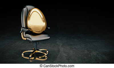 golden egg concept business 3d rendering
