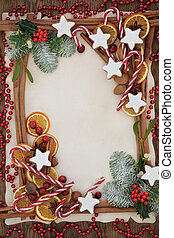 Christmas Abstract Food Border - Christmas abstract...