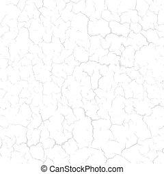 Cracked seamless pattern vector split texture. Light gray cracks on white background