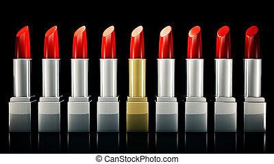 Red lipstick. 3D rendering