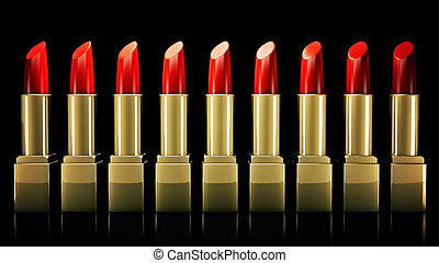 Red lipstick 3D rendering