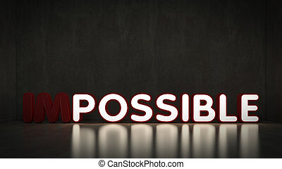 impossible transformed possible - Word impossible...