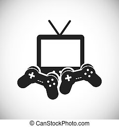 Game control and television icon Video game design Vector...