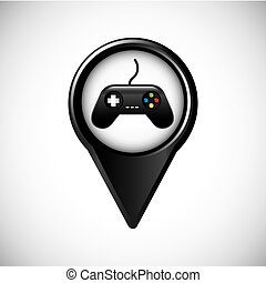Game control icon. Video game design. Vector graphic - Video...