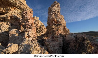 Tufa Towers at Mono Lake slow dolly shot - Mono lake Tufa...