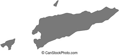 Map - East Timor - Map of East Timor as a dark area
