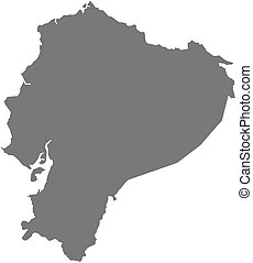 Map - Ecuador - Map of Ecuador as a dark area