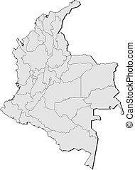 Map - Colombia - Map of Colombia with the provinces