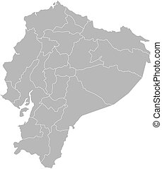 Map - Ecuador - Map of Ecuador with the provinces
