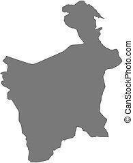 Map - Potosi Bolivia - Map of Potosi, a province of Bolivia...