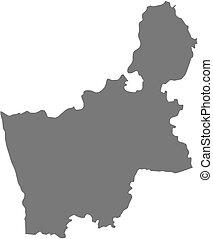 Map - Grodno Belarus - Map of Grodno, a province of Belarus...