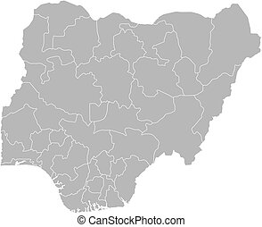 Map - Nigeria - Map of Nigeria with the provinces