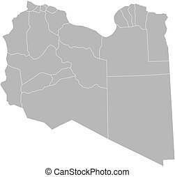Map - Libya - Map of Libya with the provinces