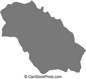 Map - Pernik Bulgaria - Map of Pernik, a province of...