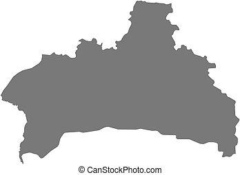 Map - Brest Belarus - Map of Brest, a province of Belarus