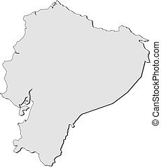Map - Ecuador - Map of Ecuador, filled in gray