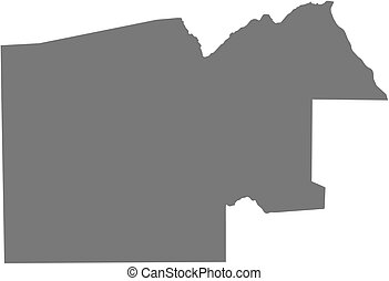 Map - North-West Botswana - Map of North-West, a province of...