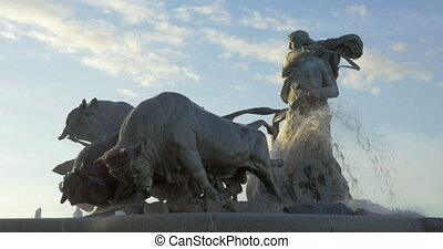 The Gefion Fountain in Copenhagen, Denmark - The Gefion...