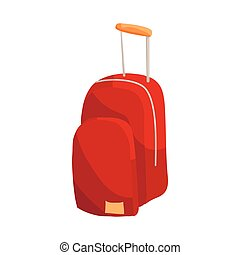 Travel insurance concept. Luggage icon in cartoon style...