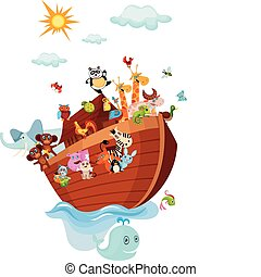 Noah\\\'s Ark - vector illustration of a Noah\\\'s Ark