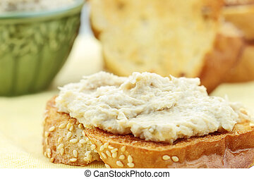 Vegan Sandwich - Vegan sandwich spread made with a meat...