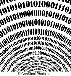 Binary Code Background Numbers Concept Algorithm, Data Code,...