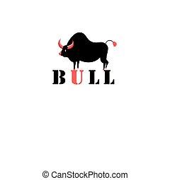 Sign black bull