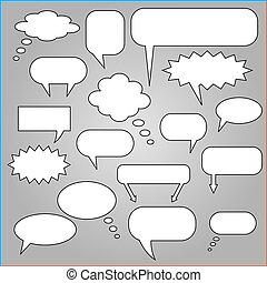 Comic Speech Chat Bubbles