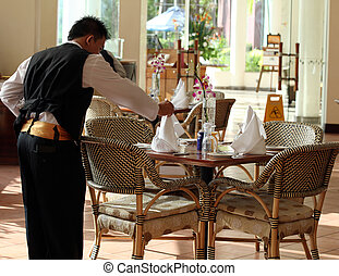 waiter at work