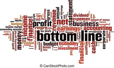 Bottom lineeps - bottom line word cloud concept Vector...