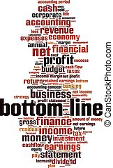 Bottom line-verticaleps - bottom line word cloud concept...