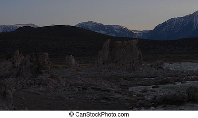 Mono Lake Sunrise slow pan right - Sunset at Mono Lake...