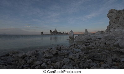 Calm waters of Mono Lake at Sunset - Mono Lake Sunset South...