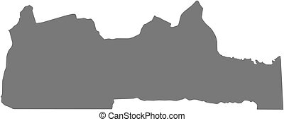 Map - South Cameroon - Map of South, a province of Cameroon...