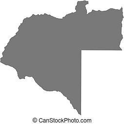 Map - Moxico Angola - Map of Moxico, a province of Angola